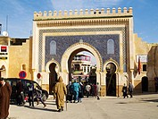 The Blue Gate, Fez, Morocco, North Africa, Africa