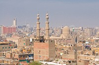 View over the roofs of the old city, Cairo, Egypt, North Africa, Africa