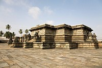 The Hoysala style Chennakeshava Temple at Belur, Karnataka, India, Asia