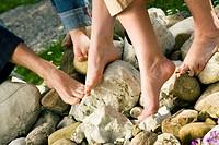 Fußgesundheit _ auf den Steinen
