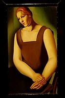 Tamara de Lempicka oil painting. Palacio de Bellas Artes. Mexico City