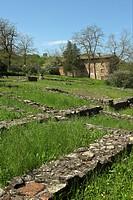 resti della città romana di velleia, quartiere di abitazione meridionale del I° sec. d.C.