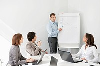 Businessman giving presentation in a meeting