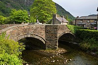 Bridge over the River Colwyn Beddgelert Snowdonia Wales