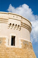 Torre de Fornells FORNELLS MENORCA Spanish built defense tower on seacliff hillside