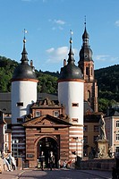 Karlstor (Karl´s Gate), old bridge, Heidelberg, Baden-Württemberg, Germany