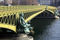 Pont Mirabeau over River Seine, Paris, Ile-de-France, France