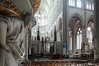 Interior view of Cathedral Notre Dame, Amiens, Picardy, France