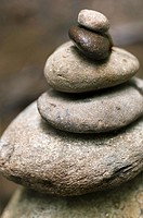 Stacked River Stones - symbolizing balance and harmony