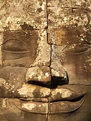 Cambodia - The face of Lokeshvara ´Lord of the World´ in the Bayon, a temple in the centre of Angkor Thom, the ´Great Capital´ of the Khmer empire in ...