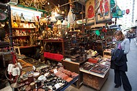 China, Hong Kong, Hollywood Road, Antique Shop Display in Cat Street