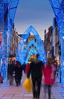 UK, England, London, South Molton Street, Christmas Lights
