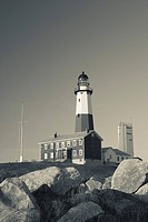 USA, New York, Long Island, Montauk, Montauk Point LIghthouse