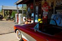 Hackberry_Route 66, USA, Amerika, Vereinigte Staaten, Arizona, Verkaufsladen, Tankstelle, Geschäft, Antiquitäten, Auto, Oldtimer