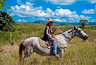 Young Cuban Cowboy in the Country side  Cuba
