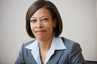 African American businesswoman smiling