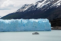 Tourist Boat on the glacier Perito Moreno Argentina