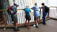Tourists visiting the Iguazu Falls Argentina