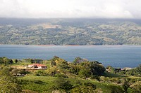 View of the Arenal lake near Tilaran