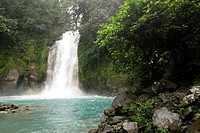 Waterfall of the river Rio Celeste