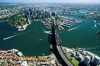 New South Wales _ Sydney harbour by air