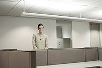 Businesswoman in empty office