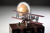 Model Airplane and Globe
