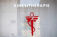 Kinesitherapist´s shop sign