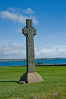 Celtic Crosses at Iona Abbey, Isle of Iona Argyll & Bute Scotland