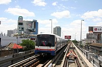 person, bangkok, skytrain, thailand, people