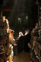 Shop in old souq in Damascus Syria