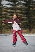 saskatchewan, skating, jaw, moose, outdoors, girl