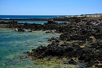 seaside Malpais de la Corona, Lanzarote, Spain