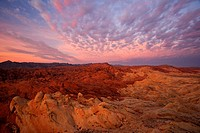 Sunrise over Valley of fire state park