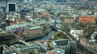Aerial view of Berlin  Germany