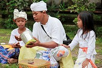 Indonesia, Bali, Galungan festival, religious ceremony, people, family,