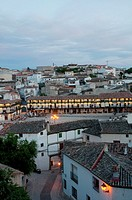 Overview at dusk. Chinchón, Madrid province, Spain.