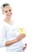 Pregnant woman with a mother and child pass