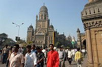 constructed, person, building, gothic, india, people