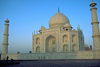 mahal, arrive, taj, view, dawn, people