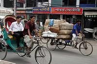 dhaka, person, rickshaw, cycle, bangladesh, people