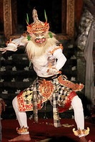 Indonesia, Bali, Ubud, classical dancer, Ramayana ballet performance,