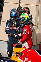 Sebastian Vettel, Red Bull Racing RB 6 & Felipe Massa, Scuderia Ferrari F10, Grand Prix, Bahren, Persian Gulf