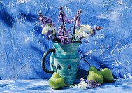 Still_Life of blue jug and flowers