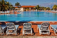 Caribbean resort pool poolside view