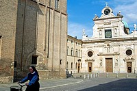 San Giovanni square and San Giovanni church, Parma, Emilia Romagna, Italy, Europe