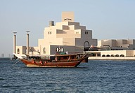 Dhow in front of Islamic museum