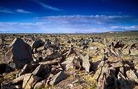 clouds, desert, deserts, hamada, landscape, mountainous, mountains