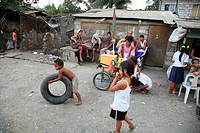 people child person children playing shantytown