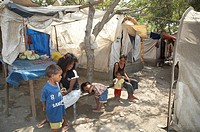 people child children timor leste camp for idps
